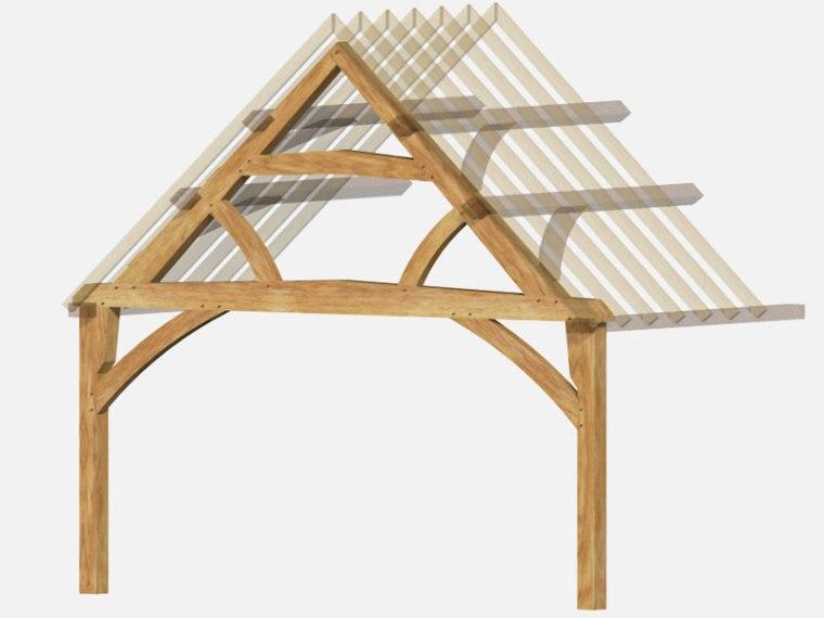 The Oak frame Carpentry Company LTD, Gloucester, Inglaterra.